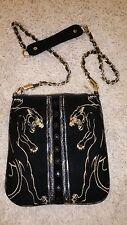 Ed Hardy by Christian Audigier embroidered black velvet bag purse