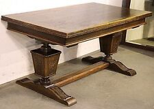 French Baronial oak antique extension dining table carved oak desk provincial
