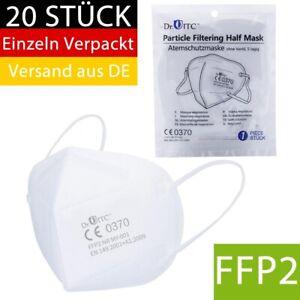 Atemschutzmaske Mundschutz 20 x FFP2 Maske 5 lagig CE Mund Nase Gesichtsmaske