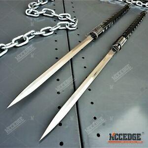 "Dual Blade 33"" Samurai SWORD SET Interlocking Japanese Collectible Display Sword"
