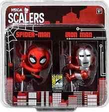 NECA SCALERS AMAZING SPIDERMAN IRON MAN SDCC EXCLUSIVE 2 PACK TOY FIGURE BNIB