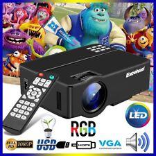 Multi-screen Proyector 3000 Lúmenes HD 1080P Home Cinema HDMI USB VGA AV TV PC