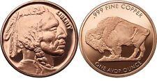 1oz COPPER COIN *INDIAN HEAD BUFFALO .999 COPPER ROUNDS BULLION OZ 1-5-20-100