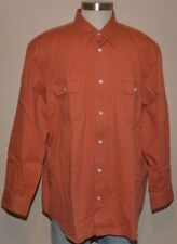 Covington Long Sleeve Rust Orange 100% Cotton Shirt Men's XXL 2XL 50-52 NWT