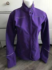 Mountain Equipment Co-Op Purple Soft Shell Reflective Womens Jacket Size 10