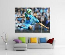 SERGIO Aguero Manchester City FC Giant WALL ART PICTURE FOTO POSTER