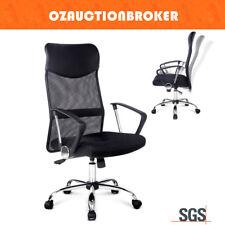 PU Leather Executive High Back Mesh Computer Desk Office Chair Tilt Work Seat