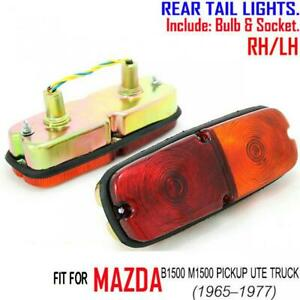 FOR MAZDA B1500 M1500 UTE PICKUP 65-70 -77 RH+LH REAR TAIL LIGHTS LAMP RED AMBER