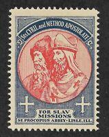 US 1935 Slav Missions - Catholic Charity Stamp - St. Procopius - Lisle Illinois