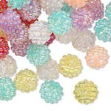 100 Bubblegum Inspired Assorted Razzleberry AB Acrylic Beads 10MM