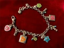 Brighton Havana Bracelet 7 Charms different words on back of charms multi-color