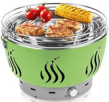 Holzkohlegrill grün mit aktiver Belüftung herausnehmbare Fettauffangschale Grill