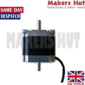 Nema23 Dual Shaft 8mm 6.35mm Stepper Motor 56.4x56.4x56mm 1.3Nm 3A