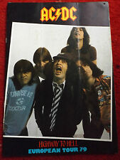 ACDC 1979 HIGHWAY TO HELL PROGRAMME & TICKET BON SCOTT ANGUS MALCOLM YOUNG