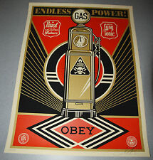 Endless Power Shepard Fairey Poster Obey Giant Print Signed Numbered 2013 gas