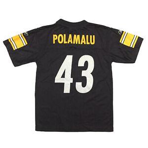 Pittsburgh Steelers Youth Jersey Troy Polamalu #43 Reebok NFL Football Sz Kids M
