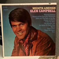 "GLEN CAMPBELL - Wichita Lineman (ST-103,1968 Pressing)- 12"" Vinyl Record LP - EX"