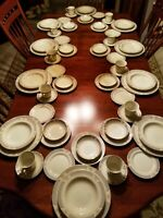 7 PC PLACE SETTING SERVICE FOR TEN MIKASA IVORY CHINA LEXINGTON PATTERN 70 PCS