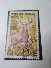 FRANCE 1972, timbre 1725, SOLOGNE, CERF, TOURISTIQUE, oblitéré VF STAMP