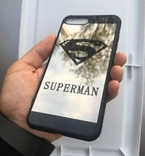 Cute Superman HD mirror case compatible with iPhone 6/6s  - Black