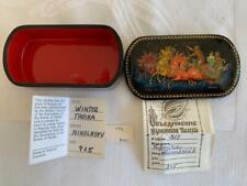 New ListingVintage 1992 Signed Miniature Russian Lacquer Box Winter Troika Nikolayev