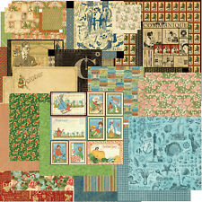 Lot Of (20) Graphic45 12X12 Papers scrapbooking Various Designs
