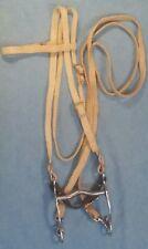 New Complete Western Bridle-Horse Sz~Waxed Nylon Headstall,Reins,Bit,Curb~ Aqha