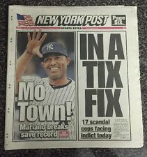 New York Post Sept 20,2011 Mariano Rivera Breaks All-Time Save Record