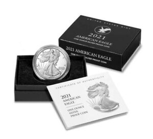 United States. American Eagle One ounce Silver Proof Coin 2021, type 2, mint W