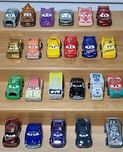 LOT Of 23 Disney Pixar CARS Mini Racers Die Cast Vehicles Mattel All Different
