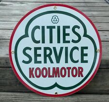 Cities Service Koolmotor Sign Porcelain Coated Cabin Lodge Man Cave Home  Decor