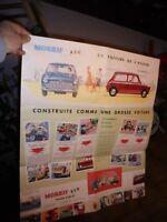 Grand Ancien Catalogue Affiche  Mini British Leyland Austin Morris 850