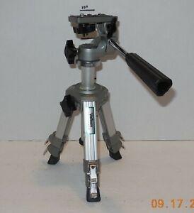 Vintage Made in Japan Velbon Mini Tripod Camera Camcorder Tri pod 3 way pan head