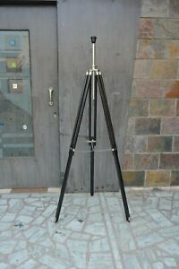 Nautical Style Wooden Black Tripod Stand Decorative floor Shade Lamp