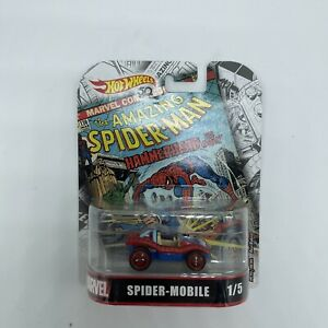 HOT WHEELS 1/64 RETRO 2018 MARVEL SPIDER-MOBILE 1/5 NEW Free Shipping