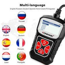 Car Diagnostic Scanner OBD2 EOBD Engine Fault Code Reader Erase Reset Check Tool