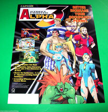 1998 CAPCOM. STREET FIGHTER ALPHA 3 VIDEO ARCADE GAME FLYER
