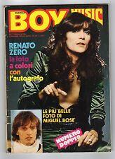 [JUK5] RIVISTA BOY MUSIC ANNO 1980 NUMERO 30 MIGUEL BOSE' FOTO RENATO ZERO