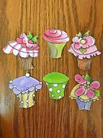 Cupcake - 6 - Iron-On Fabric Appliques.  (B)