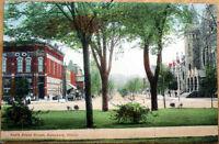 1912 Galesburg, Illinois Postcard: South Broad Street/Studebaker Shop - IL