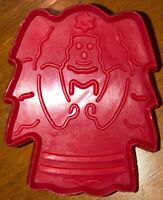 Vintage Red Plastic Christmas Holiday Angel Cookie Cutter