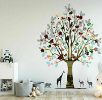 Nursery Tree Jungle Animal Wall Sticker Kids Home Nursery Decor Decal Mural Gift