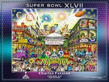 Super Bowl XLVII NEW ORLEANS 2013 Official NFL Football Fazzino Pop Art POSTER