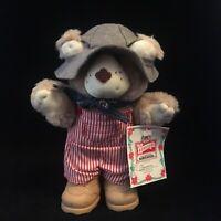 "Vintage 1986 Dudley Furskin Furskins Bear Wendy's Promo 7"" Plush Toy w/tag"