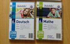 2 x Schülerhilfe Deutsch und Mathematik 6. Klasse Lernsoftware CD-ROM PC
