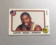 1987 Panini CARD Sticker Earvin Magic Johnson Basketball Supersport #138 New!!