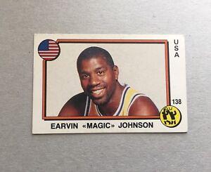 1987 Panini CARD Sticker Earvin Magic Johnson Basketball Supersport #138 New!!