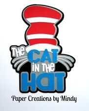 CRAFTECAFE MINDY CAT IN THE HAT DIECUT  premade paper piecing scrapbook title