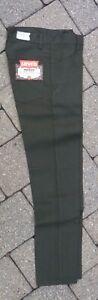 LEVI'S BIG E DEADSTOCK DARK GREEN STA PREST PANTS 1960'S 28 X 30 VINTAGE JEANS