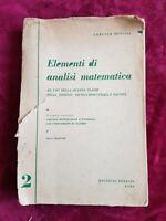 LIBRO BOOK elementi di analisi matematica volume secondo bencini lorenzo GAT1